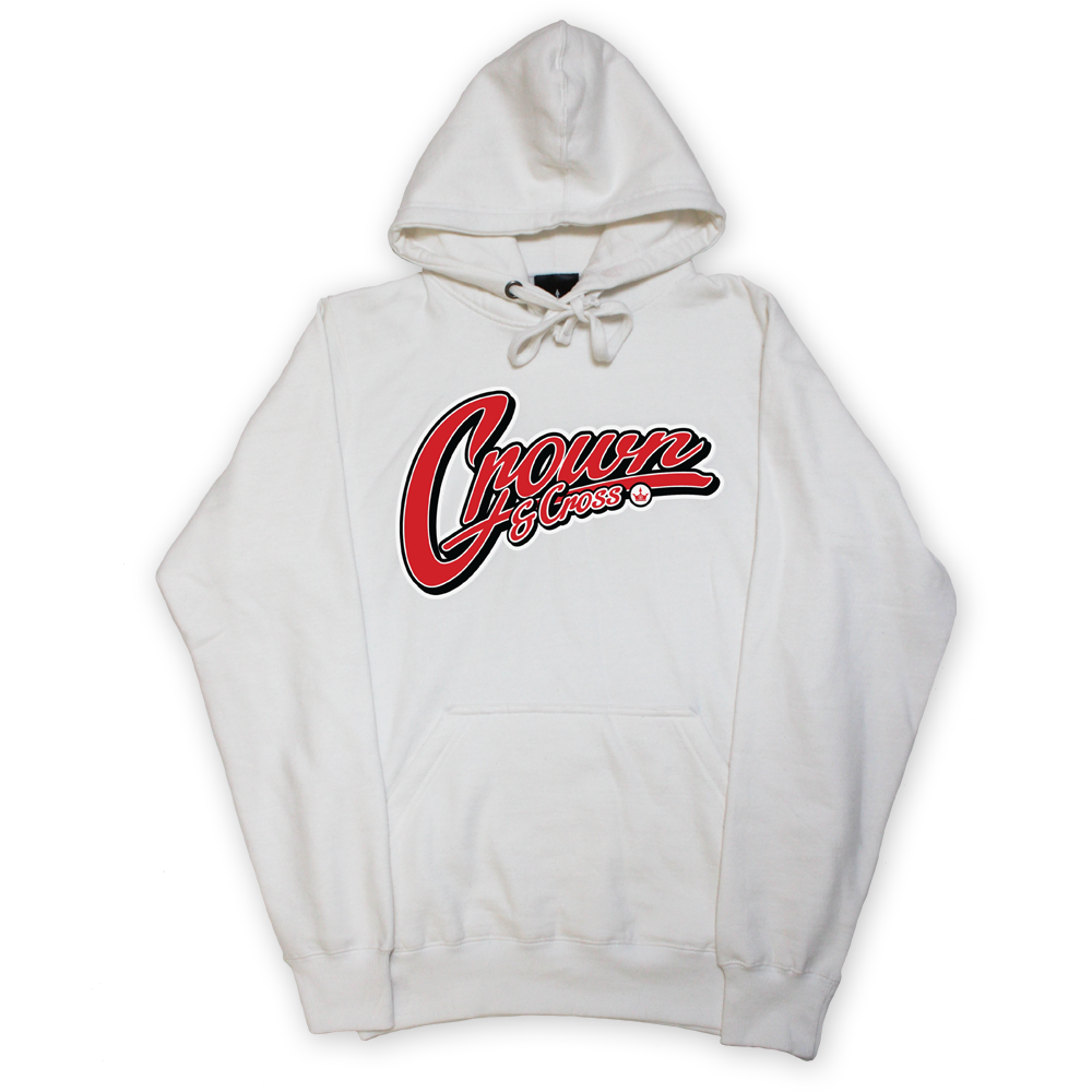 Image of SCRIPT PULLOVER HOODY - WHITE