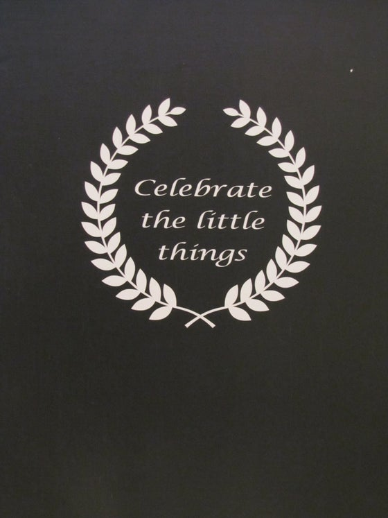 "Image of Sticker ""Celebrate the little things"""