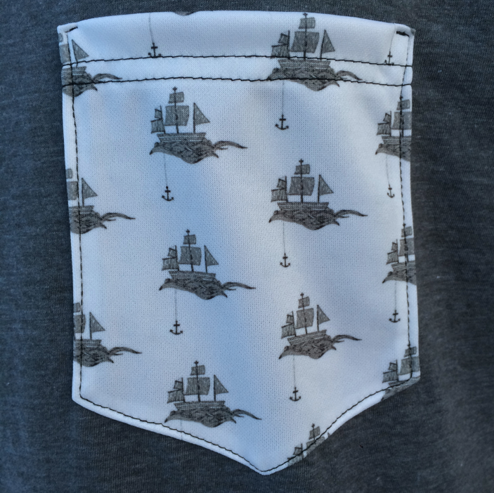 Image of Limited Edition Men's Pirate Ship Pocket Tee