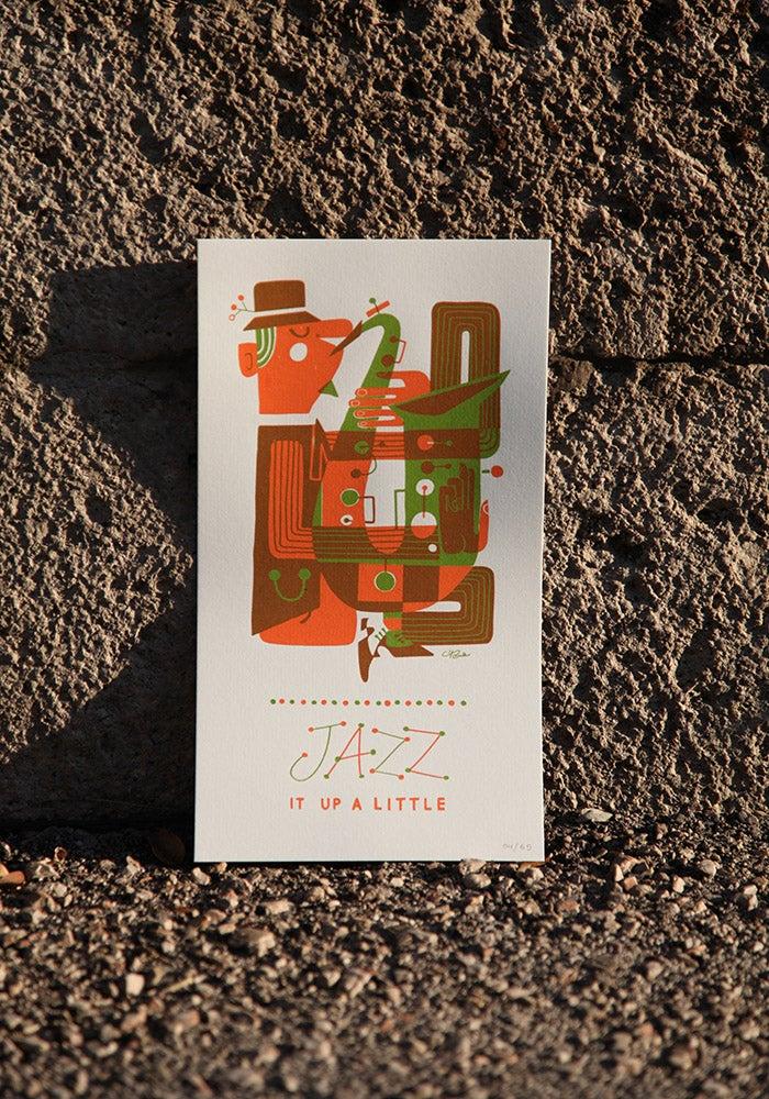 Image of Jazz sax print