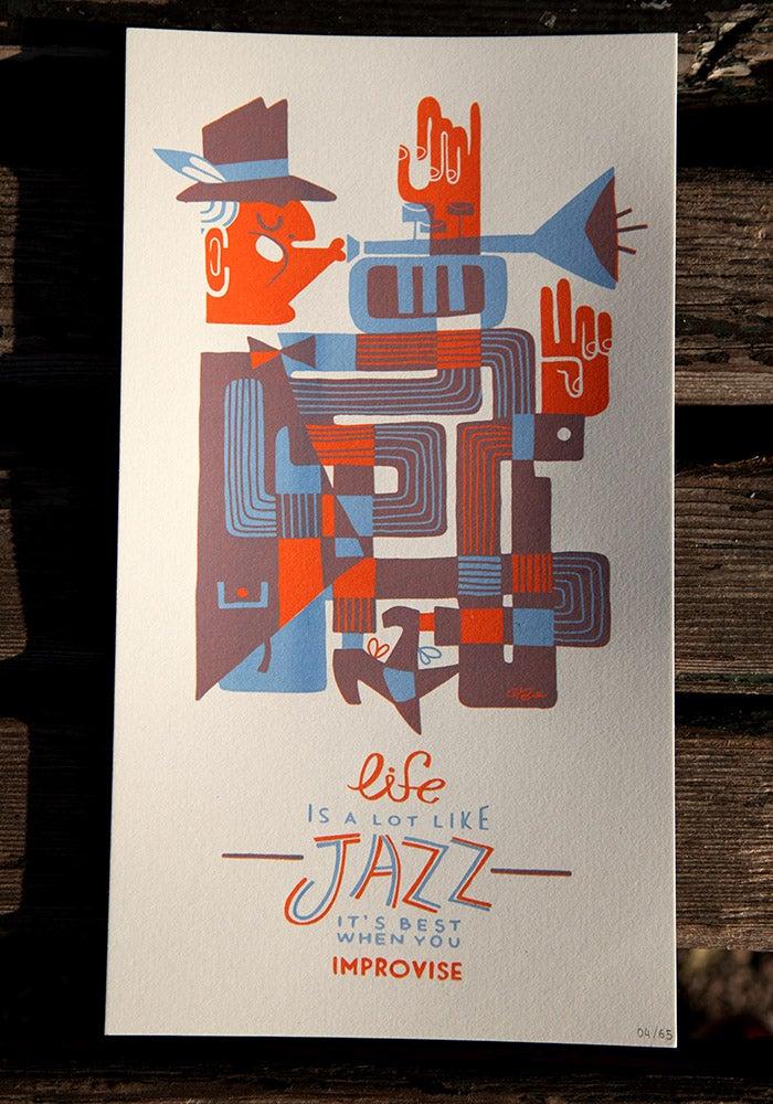 Image of Jazz trumpet print