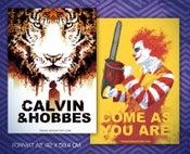 Image of Poster Calvin & Hobbes (recto) Ronald (verso)