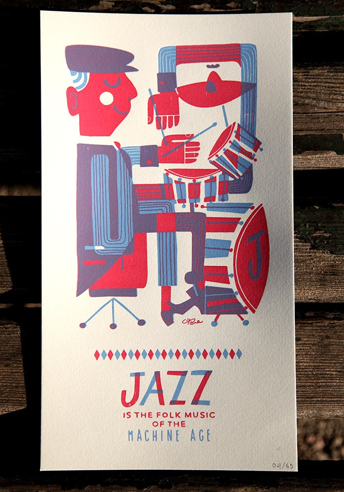 Image of Jazz drums print