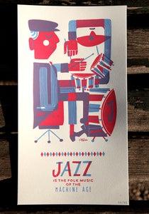 Image of Jazz drums print