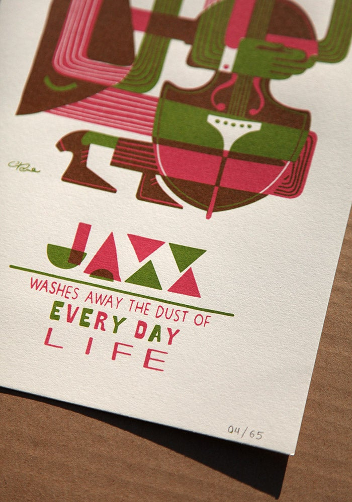 Image of Jazz bass print