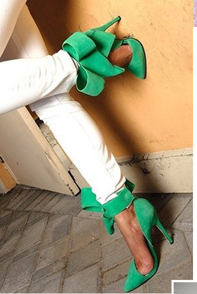 Image of HIGH QUALITY HOT FASHION BIG BOW HIGH HEEL SHOES