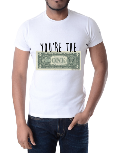"""Image of Millionaires """"You're The One"""" White Tee"""