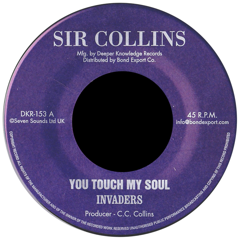 "Image of Invaders - You Touch My Soul 7"" (Sir Collins)"