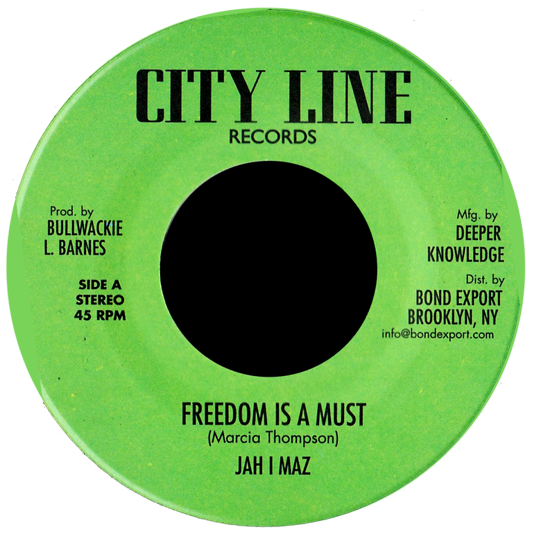"Image of Jah I Maz / Baba Leslie - Freedom is a Must / Freedom Dub 7"" (City Line)"