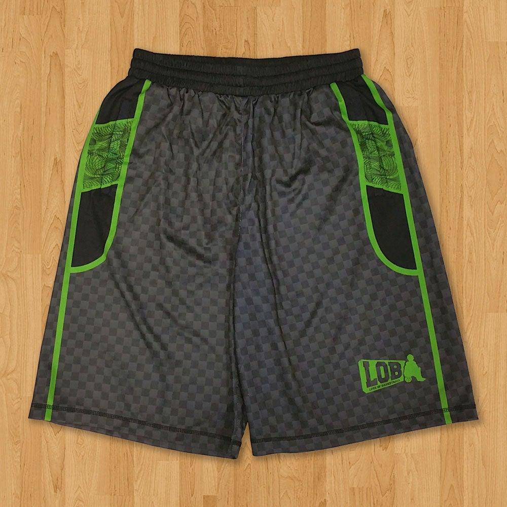 Image of LOB Graphic Shorts (Green)