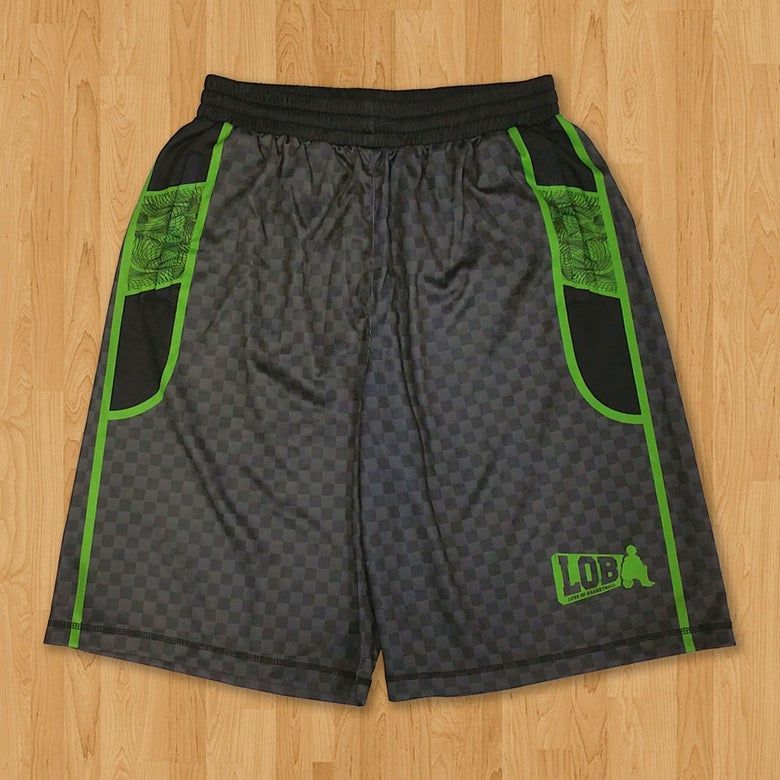 Image of LOB Graphic Shorts (Green)