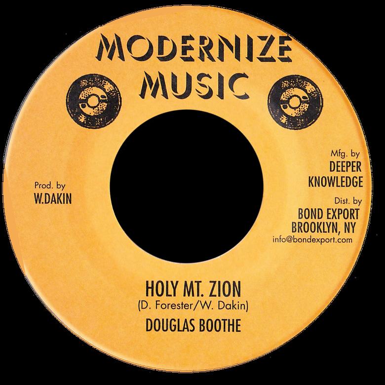 "Image of Douglas Boothe - Holy Mt. Zion 7"" (Modernize Music)"