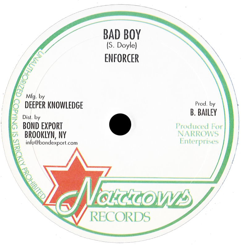 "Image of Enforcer / Little Roy - Bad Boy / Leaving Rome 10"" (Narrows)"