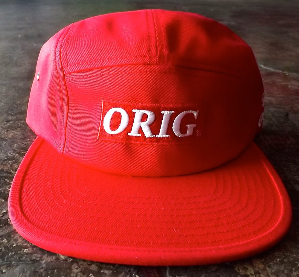 Image of ORIG BOX-LOGO 5 PANEL (RED)
