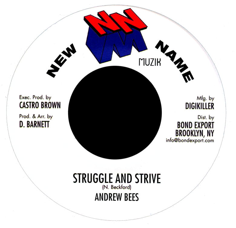 "Image of Andrew Bees - Struggle and Strive 7"" (New Name Muzik)"