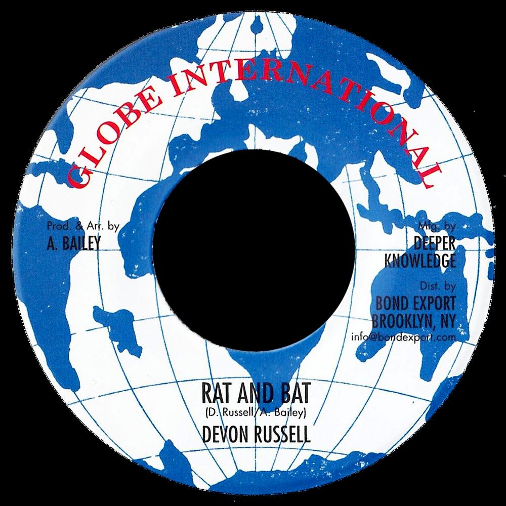 "Image of Devon Russell - Rat & Bat 7"" (Globe International)"