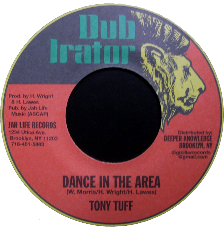"Image of Tony Tuff - Dance in the Area 7"" (Dub Irator)"