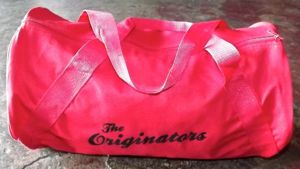 Image of ORIGINATORS SCRIPT DUFFEL BAG (RED)