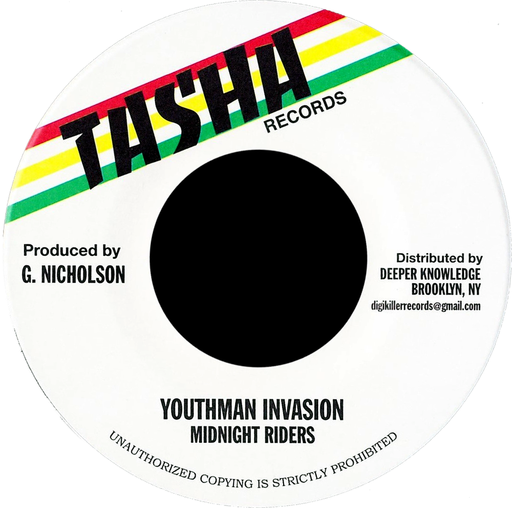 "Image of Midnight Riders - Youthman Invasion 7"" (Tasha)"