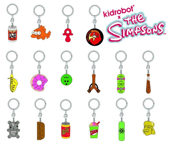 Image of Simpsons 25th Anniversary Keychains