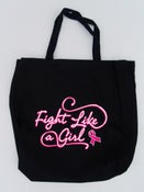 Image of Fight Like a Girl Black Tote Bag