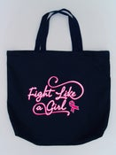 Image of Fight Like a Girl Navy Tote Bag