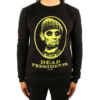 Image of Dead Presidents Crewneck (Blk/Volt)