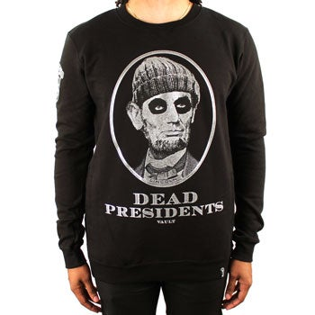 Image of Dead Presidents Crewneck (Black/Silver)