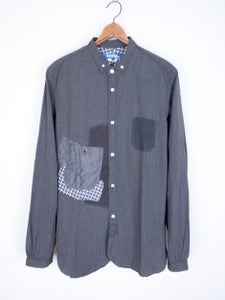 Image of Junya Watanabe MAN - Micro Check Patched Button Down Shirt