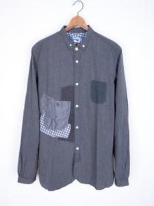 Image of Junya Watanabe MAN - Micro Check Patched Button Down Shirt