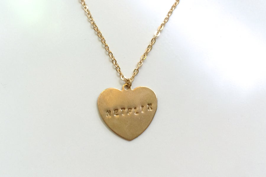 Image of Hand-Stamped Television Necklace