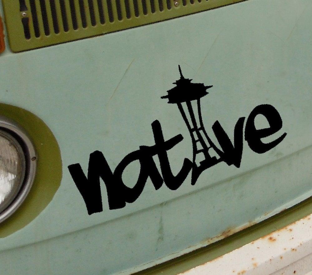Image of Seattle Native Sticker
