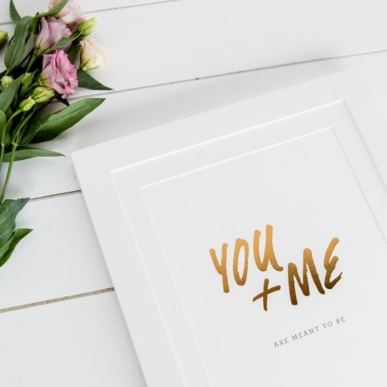 Image of 'you + me' 8x10 print / copper foil