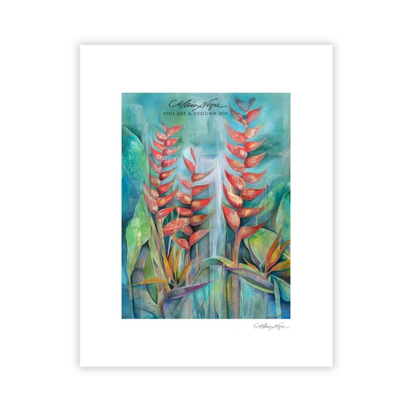 Image of Heliconias, 11x14 Archival Paper Print