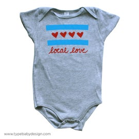 Image of Local Love Chicago Flag Onesie | Chicago, IL
