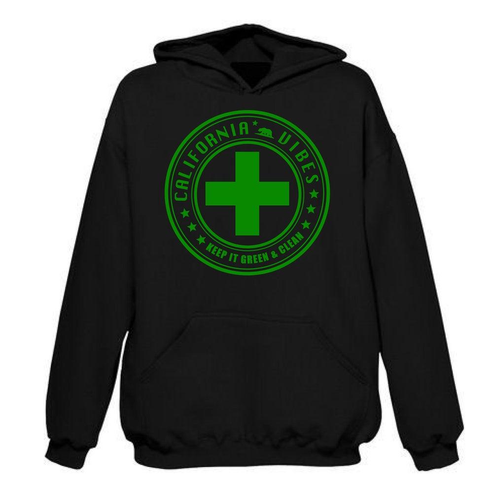 Image of KEEP IT GREEN AND CLEAN BLACK HOODIE