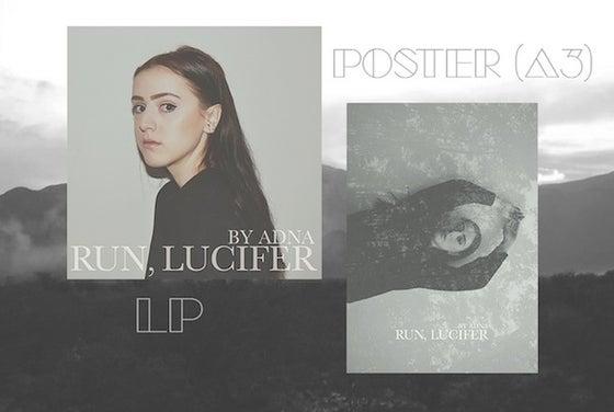 Image of Adna - Run, Lucifer [Vinyl LP + Signed Poster] 2nd pressing transparent vinyl