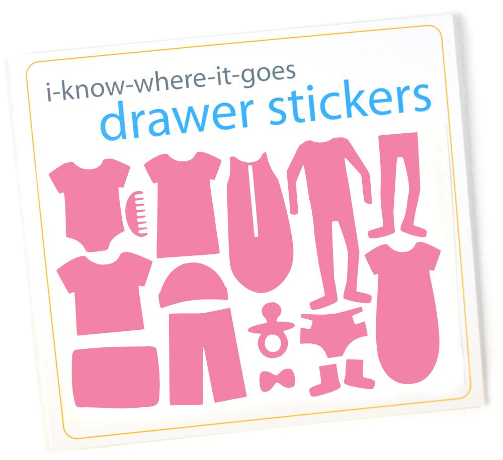 Image of Drawer Organizer Stickers - Baby