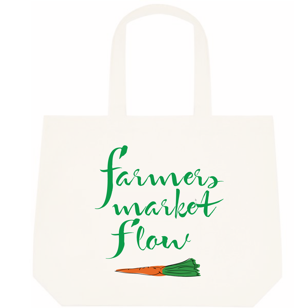 """Image of """"Farmers Market Flow"""" Tote"""