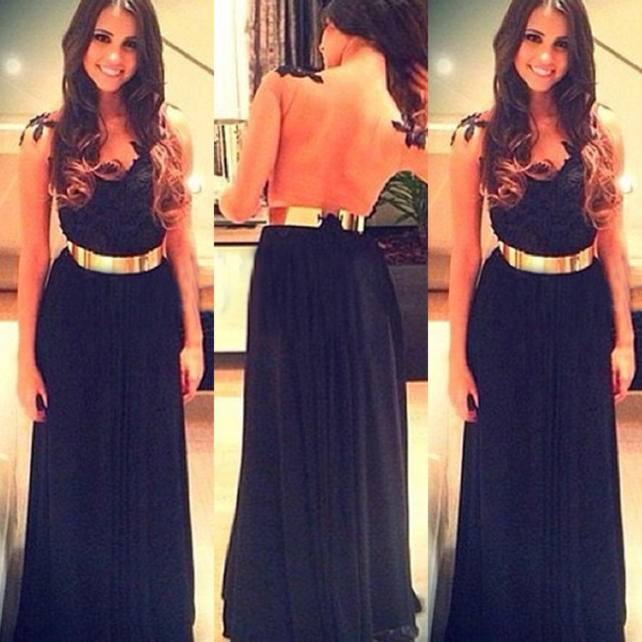 Image of FASHION HOT LACE PERSPECTIVE LONG DRESS
