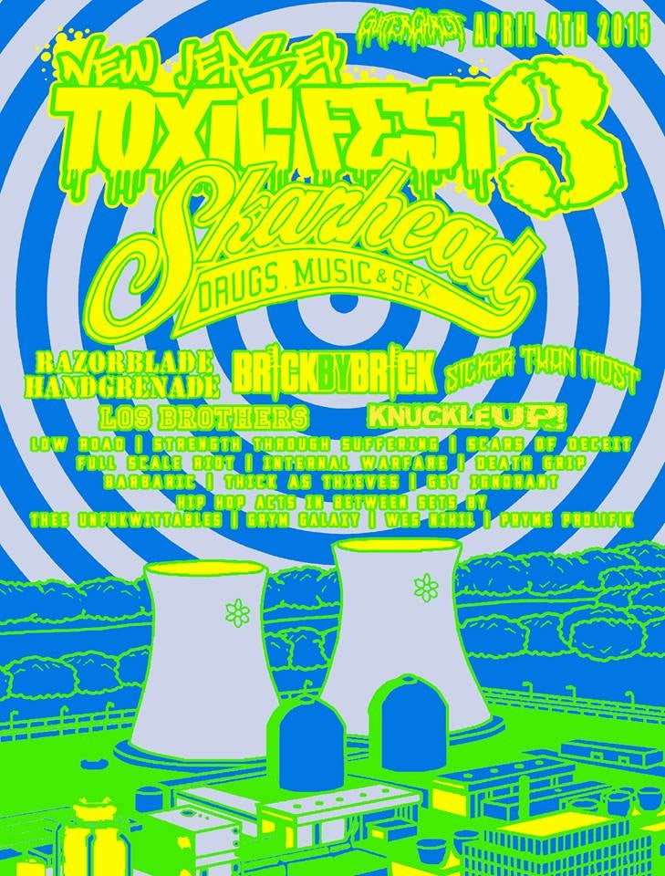 Image of NJ TOXIC FEST 3 LIMITED SCREEN PRINTED POSTER