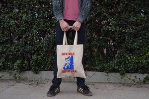 "Image of ""Beware Hipsters"" Tote Bag"