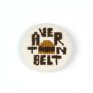 Image of Cross-Stitched Tavern Belt Button