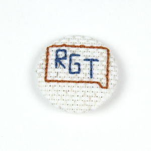 Image of Rock Garden Tour Cross-Stitched Button
