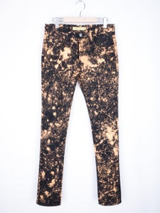 Image of Raf Simons x Sterling Ruby - Black Paint Splattered Jeans