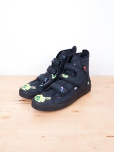 Image of Raf Simons - Floral Print Velcro Sneakers