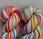 Image of **knotted skein** Cirrus 4 ply yarn in MIND THE GAP