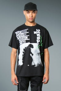 Image of Oversized Tee With Zilla Print