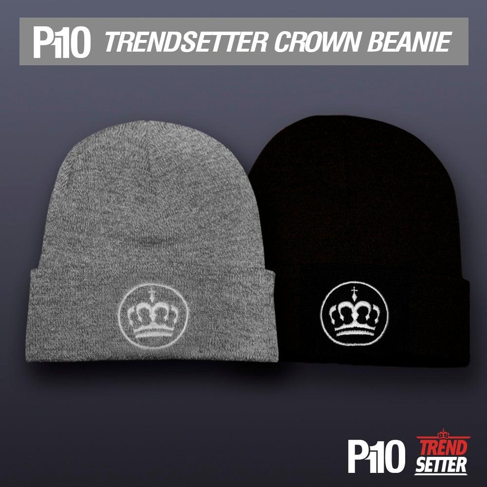 Image of Black/Grey #TrendSetter Crown Beanie