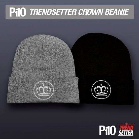 Image of Black/Grey #TrendSetter Crown Beanie